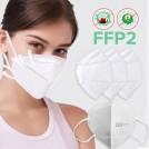 10 Masques de Protection Respiratoire FFP2 - PM2,5 - Prix de Lot - Anti-Poussière - Anti-Pollution - Efficace contre Ebola et Coronavirus