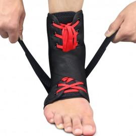Attelle de Cheville Réglable avec Lacet et Velcro - Parfait pour les Sportifs