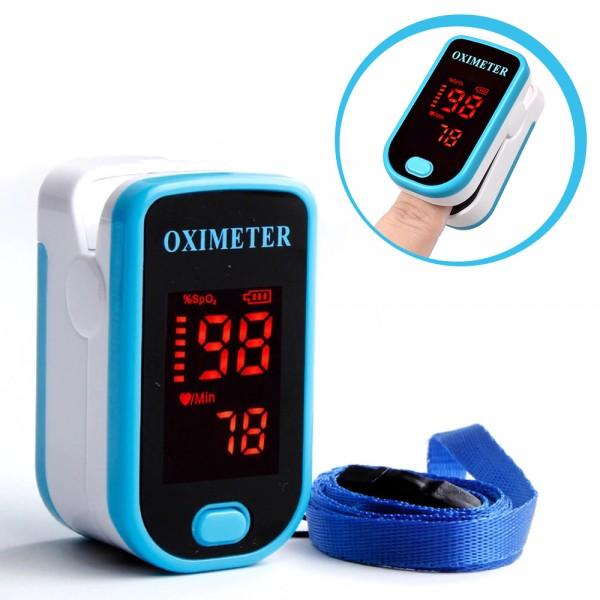 Oxymètre de Pouls - Moniteur de Fréquence Cardiaque - Choix de 5 Couleurs