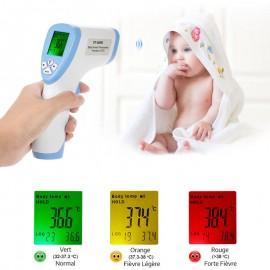 Thermomètre Frontal Infrarouge pour Bébé Écran LCD