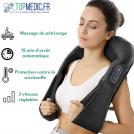 Masseur Cervical - Appareil Massage Shiatsu Chauffant 8 têtes rotatives, Idéal pour Nuque, Dos et Cervicales