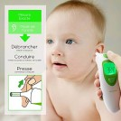 Thermomètre Frontal et Auriculaire Infrarouge pour Bébé Enfant Adulte